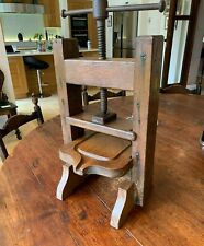 More details for rare apple press oak with iron screw, probably french.  very decorative item.