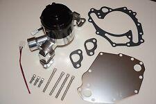 Billet Aluminum & Black Ford 351C Cleveland Electric Water Pump w/ Plate SBF V8
