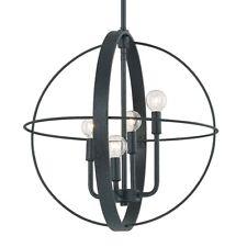 """Capital Lighting Pendants 4 Light Pendant, 18.5""""x69.5"""", Black Iron - 312541BI"""