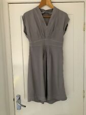 The White Company Pale Grey Pleated Shift Dress Size 10