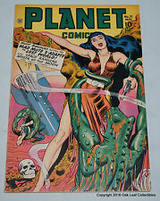 Planet 51 Fiction House Comic Book 1947 Space Alien Cover! HIGH GRADE VF+