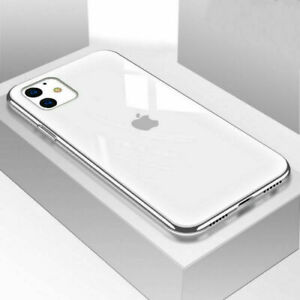 For iPhone 12 11 Pro XS Max XR 8 7 Luxury Tempered Glass Back 9H Hard Case Cover