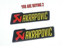 3D AKRAPOVIC Exhaust Heat Proof 145mm Aluminium Sticker Decal M'cycle UK SELLER