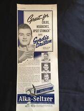 Vintage Alka-Seltzer Print Ad - Featuring Gordie Drillon , Maple Leafs - 1940