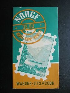 WAGON LITS COOK VINTAGE NORWAY TRAVEL GUIDE BROCHURE in 2 languages from 1938