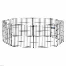 """New listing 30"""" Dog Exercise Play Pen Folding Indoor Outdoor Cage Fence Pet Puppy Kennel"""