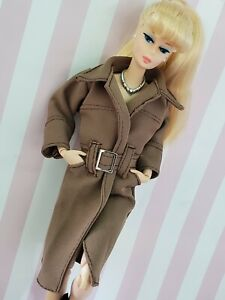 💕1/6 Fashion Doll Barbie Trench Coat  Clothes Overcoat Outerwear