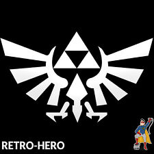 Zelda Aufkleber Vinyl Dreieck Nintendo Sticker Triforce Logo Weiß 13x8 cm #2