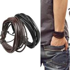 Hot Tribal Men's Women Jewellery Surfer Wrap Multilayer Leather Cuff Bracelet