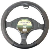 Simply Universal Luxury Grip Black Padded Car Steering Wheel Cover Strong Grip