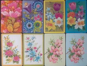 Swap cards vintage - 8 (4 PAIRS ) GENUINE VINTAGE FLOWERS