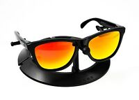16a4388790 OAKLEY FROGSKINS POLISHED BLACK FRAME   REVANT FIRE RED POLARIZED CUSTOM  LENSES