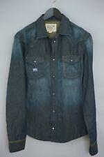 Hombre Diesel Camisa Informal Denim Azul Ajustado Algodón XL MDA147