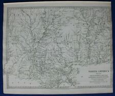 NORTH AMERICA XIII, LOUISIANA, ALABAMA, FLORIDA, original antique map SDUK 1844