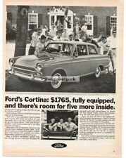 1966 Ford Cortina Deluxe 2-Door Automobile Car Vtg Print Ad