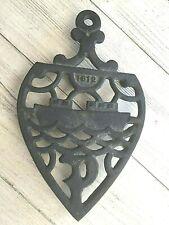 ANTIQUE 1812 CAST IRON ORNATE SHIP TABLETOP TRIVET RARE