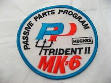 Vintage NAVY TRIDENT II MISSILE MK-6 Patch Submarine HUGHES Military Collectible