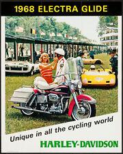 HARLEY-DAVIDSON ELECTRA GLIDE 1968 vintage advertising poster 24x30