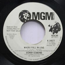 50'S & 60'S Promo Nm! 45 Donny Osmond - When I Fall In Love / Are You Lonesome T