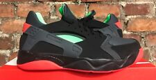 Nike Air Flight Huarache bajo Negro Verde Carmesí UK9.5 US10.5 EUR44.5 819847 001
