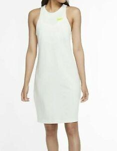 Nike Sportswear Womens Cruise Logo Tennis Dress DC2797-121 Size XS Summit White