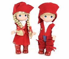 "Precious Moments 12"" Cowboy Cowgirl Western Vinyl Collector Dolls Special Event"