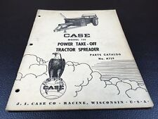 Original Case 125 Power Take Off Tractor Spreader Parts Catalog A739 August 1956