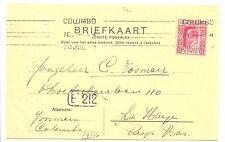 NED INDIE S.M.N. 1912-9-20 = S.S. KONINGIN DER NEDERLANDEN= (KAART AFB. SCHIP)