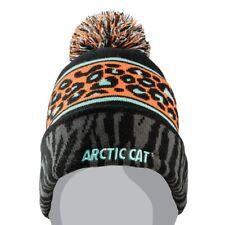 Arctic Cat Women's Animal Print Knit 100% Acrylic Beanie - Black - 5273-098
