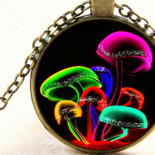 New Bright Magic Mushrooms, Pendant Necklace, Trippie, Hippie Psychedelic Gift