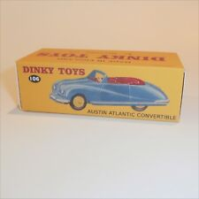 Dinky Toys 106 Austin Atlantic Blue Convertible empty Repro box