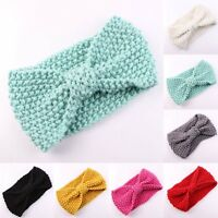 Cute Kids Girl Baby Toddler Crochet Bow Headband Hair Band Accessories  Winter .