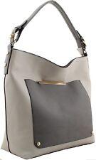 Damas Para mujeres Moda 2 entonado Gris bolsas Celebridad Bolso Elegante bolsos
