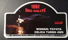 Aufkleber RAC Rallye 1992 TTE TOYOTA Celica Turbo 4WD WRC Sainz Sticker