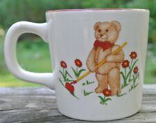 Masons Ironstone Teddy Bears Child Mug w/Red Trim Made in England
