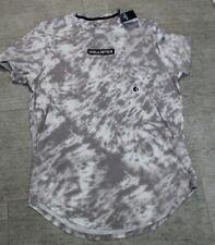 HOLLISTER Herren Shirt T-Shirt Grau Weiß Größe XL Neu mit Etikett