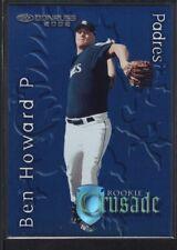 BEN HOWARD 2002 DONRUSS #26 RC ROOKIE CRUSADE PADRES SP #0976/1500