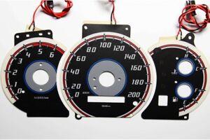 Kia Sorento design 2 glow gauges dials plasma dials kit tacho glow dash shift in