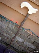 functional handmade economy TWISTY SILVER MAPLE CANE Hemlock handle~ready2use