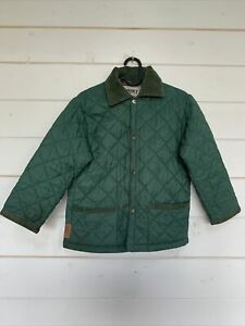 HUSKY Of Tostock Green Quilted Vintage Jacket size 30 XS