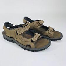 Cabelas Womens Size 10 M Brown Leather Strap Sandals 82-3605 Adjustable