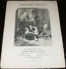 "Original 1864 Sheet Music engraved cover Children's Wreath ""Willie Gallop"""