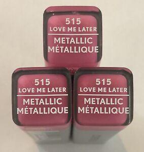 (3) Covergirl Exhibitionist Metallic Lipstick, 515 Love Me Later