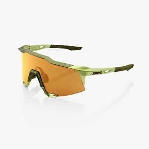 100% Percent Sunglasses SPEEDCRAFT Matte Metallic Viperidae Bronze Lens