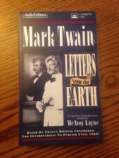 Mark Twain: Letters From The Earth. McAvoy Layne.  Audio Book Cassette 1996