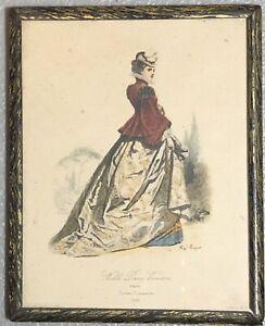 Kip Pouquet Framed Victorian Fashion Print Noble Dame Vicentine Kipp Litho Vtg