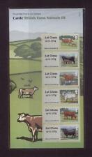 GB 2012 POST AND GO BRITISH FARM ANIMALS 3 (CATTLE) STAMP SET MINT