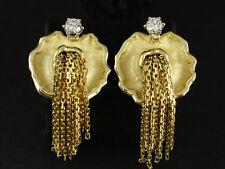 Einmalige Brillant Ohrclip ca. 0,30ct Goldchmiedearbeit 585/- Gelbgold
