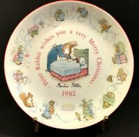 Beatrice Potter Wedgwood 1982 Peter Rabbit Wishes You Very Merry Christmas Plate