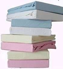 Dudu N Girlie Thick Cotton Travel Cot Fitted Sheets, 65 cm x 95 cm, 2-Piece, Cre